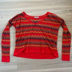 BB Dakota Chevron Lightweight V Neck Sweater